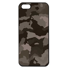 Background For Scrapbooking Or Other Camouflage Patterns Beige And Brown Apple Iphone 5 Seamless Case (black)