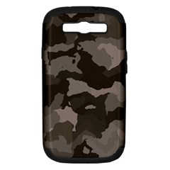 Background For Scrapbooking Or Other Camouflage Patterns Beige And Brown Samsung Galaxy S III Hardshell Case (PC+Silicone)