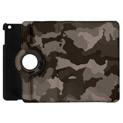 Background For Scrapbooking Or Other Camouflage Patterns Beige And Brown Apple Ipad Mini Flip 360 Case