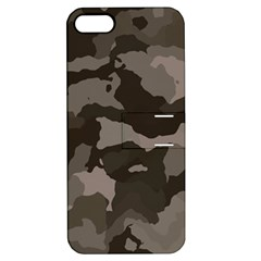 Background For Scrapbooking Or Other Camouflage Patterns Beige And Brown Apple Iphone 5 Hardshell Case With Stand