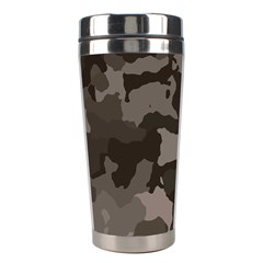 Background For Scrapbooking Or Other Camouflage Patterns Beige And Brown Stainless Steel Travel Tumblers