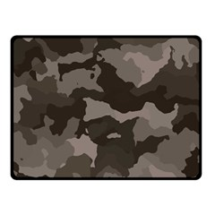 Background For Scrapbooking Or Other Camouflage Patterns Beige And Brown Double Sided Fleece Blanket (Small)