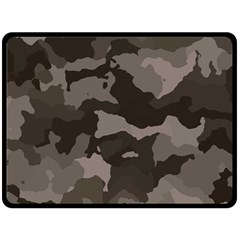 Background For Scrapbooking Or Other Camouflage Patterns Beige And Brown Double Sided Fleece Blanket (Large)