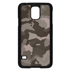 Background For Scrapbooking Or Other Camouflage Patterns Beige And Brown Samsung Galaxy S5 Case (Black)