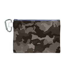Background For Scrapbooking Or Other Camouflage Patterns Beige And Brown Canvas Cosmetic Bag (M)