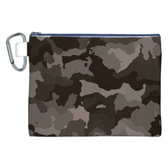 Background For Scrapbooking Or Other Camouflage Patterns Beige And Brown Canvas Cosmetic Bag (XXL)
