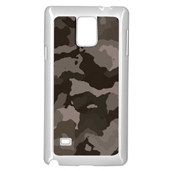 Background For Scrapbooking Or Other Camouflage Patterns Beige And Brown Samsung Galaxy Note 4 Case (White)