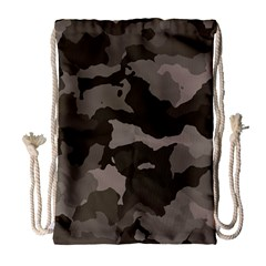 Background For Scrapbooking Or Other Camouflage Patterns Beige And Brown Drawstring Bag (Large)