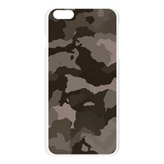 Background For Scrapbooking Or Other Camouflage Patterns Beige And Brown Apple Seamless iPhone 6 Plus/6S Plus Case (Transparent)
