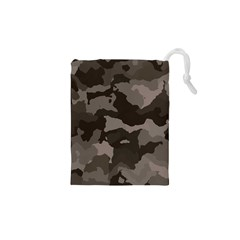 Background For Scrapbooking Or Other Camouflage Patterns Beige And Brown Drawstring Pouches (XS)