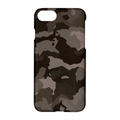 Background For Scrapbooking Or Other Camouflage Patterns Beige And Brown Apple Iphone 7 Hardshell Case