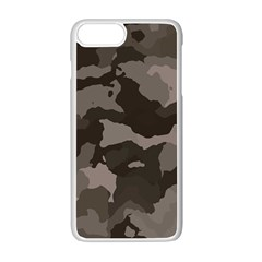 Background For Scrapbooking Or Other Camouflage Patterns Beige And Brown Apple Iphone 7 Plus White Seamless Case