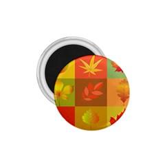 Autumn Leaves Colorful Fall Foliage 1.75  Magnets