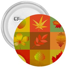 Autumn Leaves Colorful Fall Foliage 3  Buttons