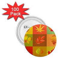 Autumn Leaves Colorful Fall Foliage 1.75  Buttons (100 pack)