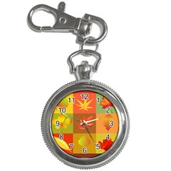 Autumn Leaves Colorful Fall Foliage Key Chain Watches
