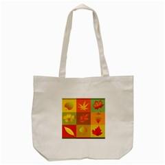 Autumn Leaves Colorful Fall Foliage Tote Bag (Cream)