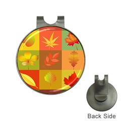 Autumn Leaves Colorful Fall Foliage Hat Clips with Golf Markers