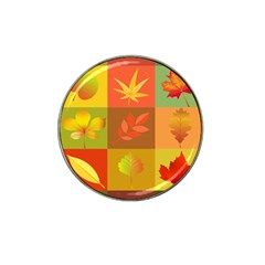Autumn Leaves Colorful Fall Foliage Hat Clip Ball Marker (4 pack)