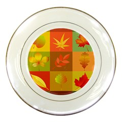 Autumn Leaves Colorful Fall Foliage Porcelain Plates
