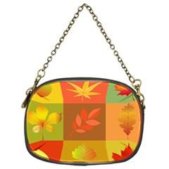 Autumn Leaves Colorful Fall Foliage Chain Purses (One Side)
