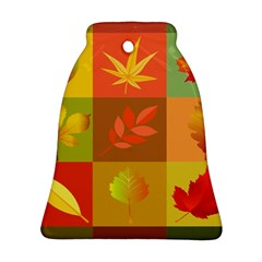 Autumn Leaves Colorful Fall Foliage Bell Ornament (Two Sides)
