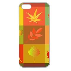 Autumn Leaves Colorful Fall Foliage Apple Seamless iPhone 5 Case (Clear)