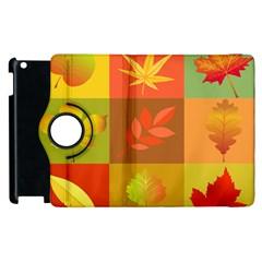Autumn Leaves Colorful Fall Foliage Apple iPad 3/4 Flip 360 Case
