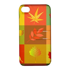 Autumn Leaves Colorful Fall Foliage Apple iPhone 4/4S Hardshell Case with Stand