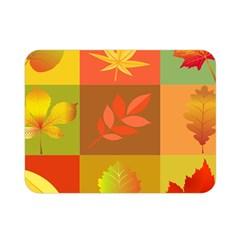 Autumn Leaves Colorful Fall Foliage Double Sided Flano Blanket (Mini)