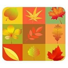 Autumn Leaves Colorful Fall Foliage Double Sided Flano Blanket (Small)