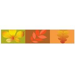 Autumn Leaves Colorful Fall Foliage Flano Scarf (Large)