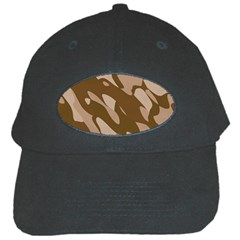 Background For Scrapbooking Or Other Beige And Brown Camouflage Patterns Black Cap