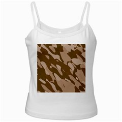 Background For Scrapbooking Or Other Beige And Brown Camouflage Patterns White Spaghetti Tank