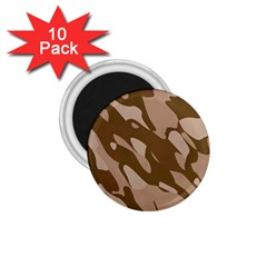 Background For Scrapbooking Or Other Beige And Brown Camouflage Patterns 1.75  Magnets (10 pack)