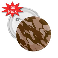 Background For Scrapbooking Or Other Beige And Brown Camouflage Patterns 2.25  Buttons (100 pack)