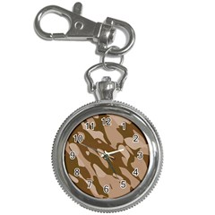 Background For Scrapbooking Or Other Beige And Brown Camouflage Patterns Key Chain Watches