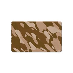 Background For Scrapbooking Or Other Beige And Brown Camouflage Patterns Magnet (Name Card)