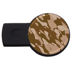 Background For Scrapbooking Or Other Beige And Brown Camouflage Patterns USB Flash Drive Round (2 GB)