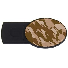 Background For Scrapbooking Or Other Beige And Brown Camouflage Patterns USB Flash Drive Oval (1 GB)