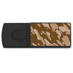Background For Scrapbooking Or Other Beige And Brown Camouflage Patterns USB Flash Drive Rectangular (2 GB)