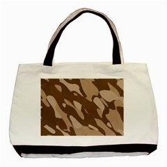 Background For Scrapbooking Or Other Beige And Brown Camouflage Patterns Basic Tote Bag