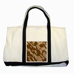 Background For Scrapbooking Or Other Beige And Brown Camouflage Patterns Two Tone Tote Bag