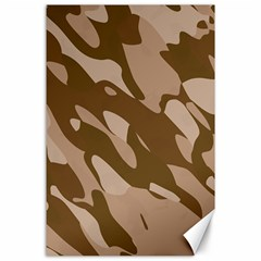 Background For Scrapbooking Or Other Beige And Brown Camouflage Patterns Canvas 24  x 36