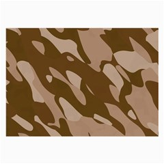 Background For Scrapbooking Or Other Beige And Brown Camouflage Patterns Large Glasses Cloth (2-Side)