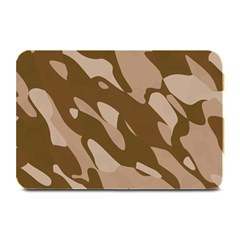 Background For Scrapbooking Or Other Beige And Brown Camouflage Patterns Plate Mats