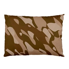 Background For Scrapbooking Or Other Beige And Brown Camouflage Patterns Pillow Case