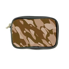 Background For Scrapbooking Or Other Beige And Brown Camouflage Patterns Coin Purse
