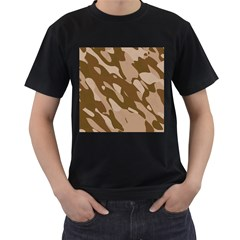 Background For Scrapbooking Or Other Beige And Brown Camouflage Patterns Men s T-Shirt (Black)