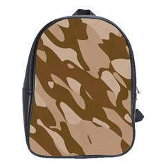 Background For Scrapbooking Or Other Beige And Brown Camouflage Patterns School Bags(Large)